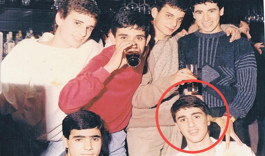 יהורם מטיטה שטרית (מוקף בעיגול) וחבריו לשכונה בשנות ה־80