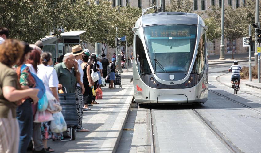 הרכבת הקלה בירושלים (צילום: אמיל סלמן)