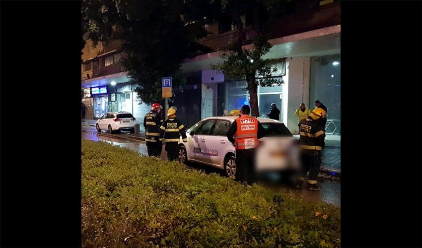 זירת התאונה ברחוב העצמאות (צילום: דוברות איחוד הצלה)