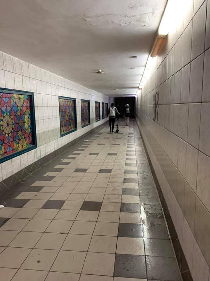 המעבר התת קרקעי בתחנת הרכבת חיפה חוף הכרמל