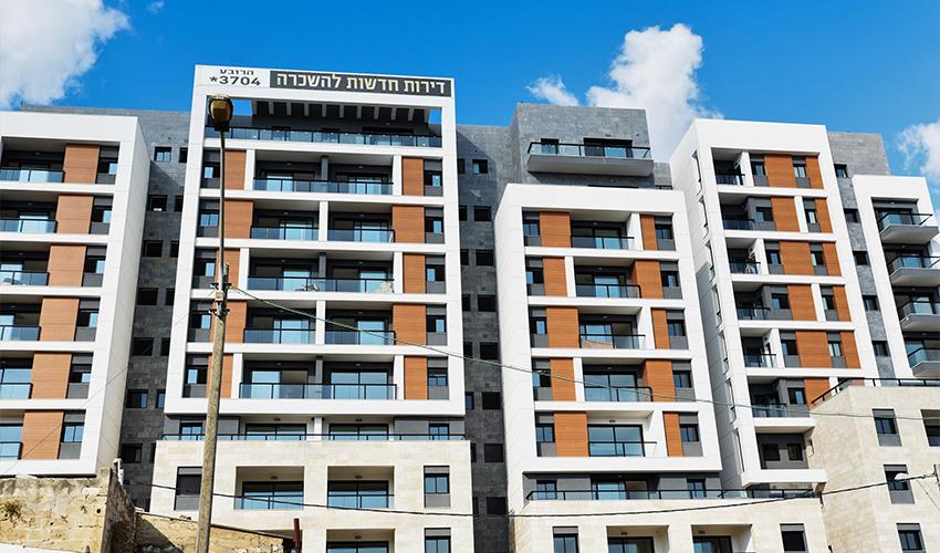 """הבניין להשכרה בפרויקט """"הרובע"""" (צילום: קובי סרור)"""