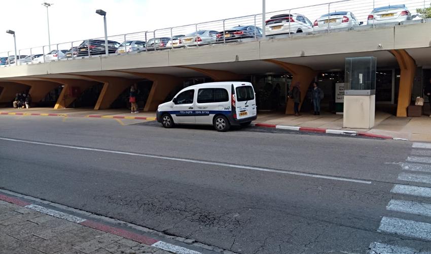 רכב של הפיקוח העירוני באוניברסיטת חיפה (צילום: שי אילן)