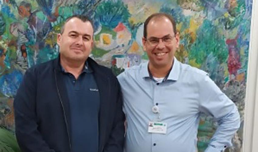 """ד""""ר אוהד הוכמן ופרופ' שראל הלחמי (צילום: אסנת זיבנברג)"""