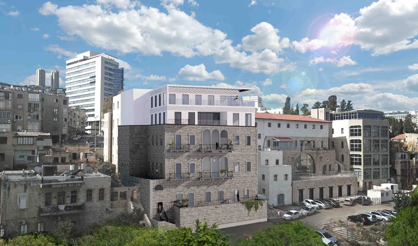 """פרויקט """"הבית במדרגות עגלון"""" (הדמיה: משרד אורן אדריכלים)"""
