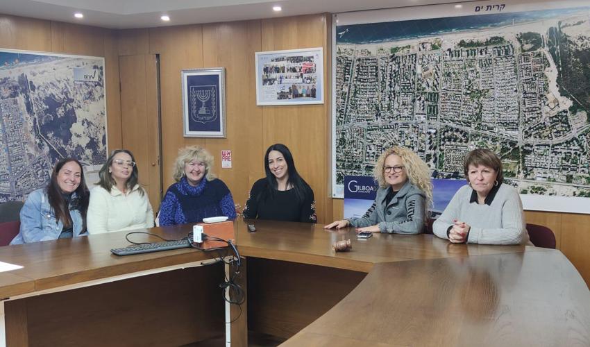 ישיבת הוועדה לקידום מעמד האשה של עיריית קרית ים (צילום: דוברות עיריית קרית ים)