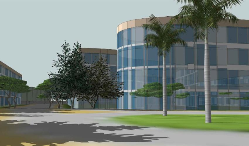 אזור התעסוקה החדש בעתלית (הדמיה: חברת תיק פרויקטים)