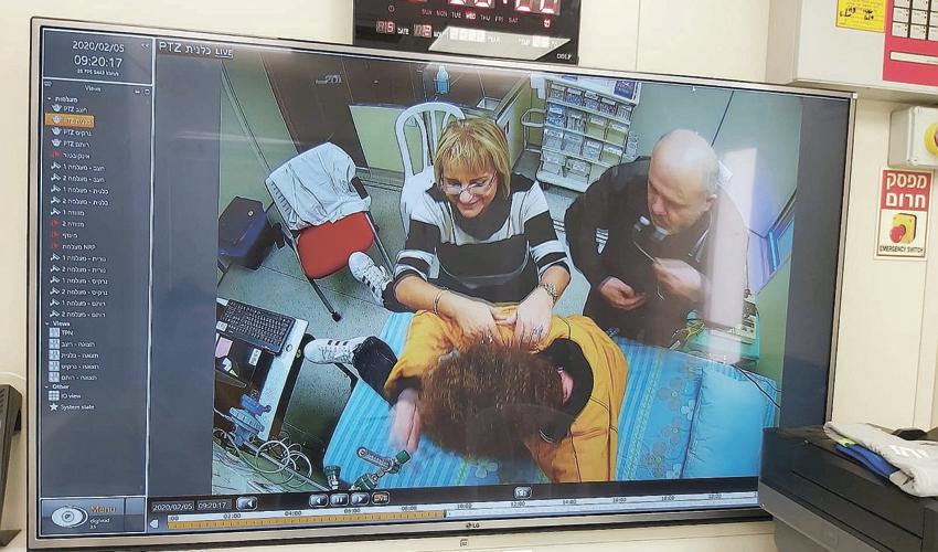 תרגול בסימולטור (צילום: דוברות שירותי בריאות כללית)
