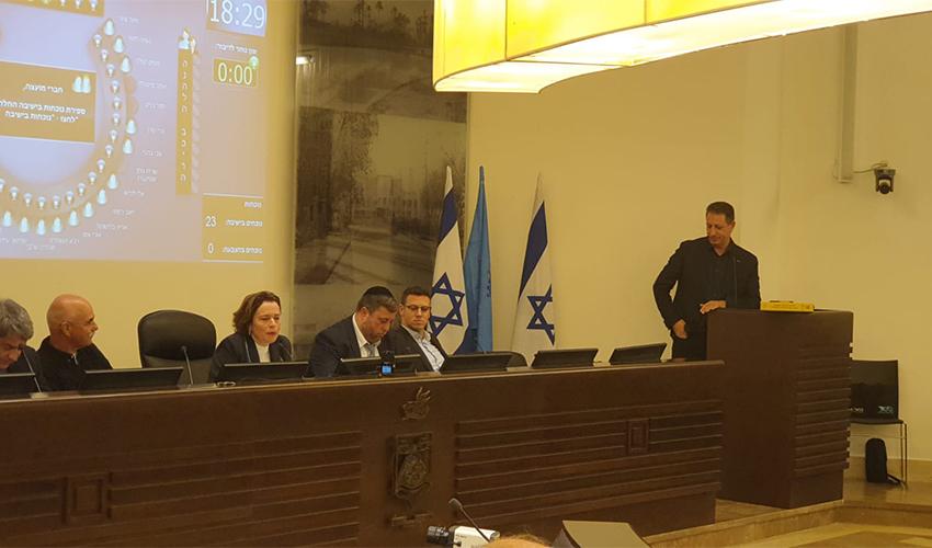 ג'אקי ואקים בישיבת מועצת העיר (צילום: בועז כהן)