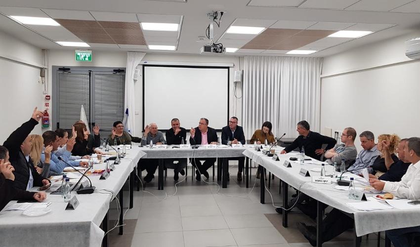 ישיבת מועצת העיר קרית ביאליק (צילום: דוברות עיריית קרית ביאליק)