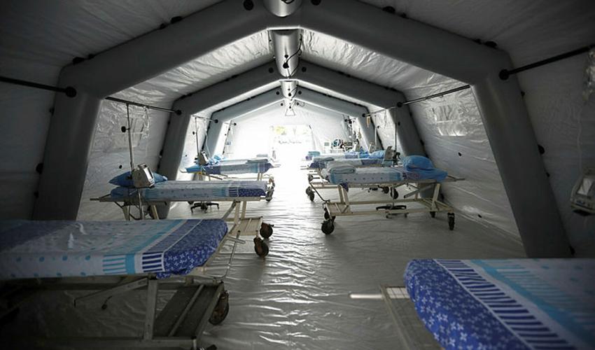 אוהל בידוד (צילום: תומר אפלבאום)