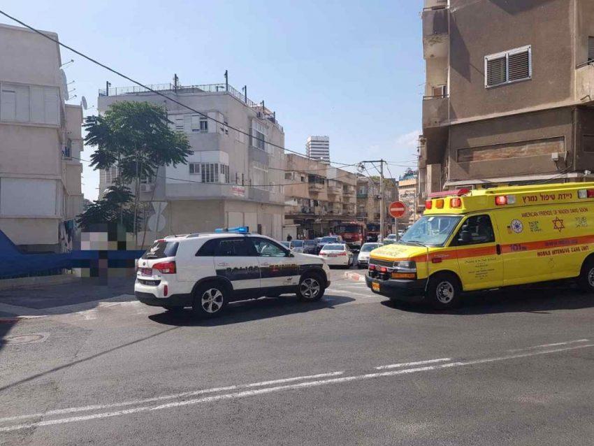 """אירוע פלילי בהדר (צילום: דוברות מד""""א כרמל)"""