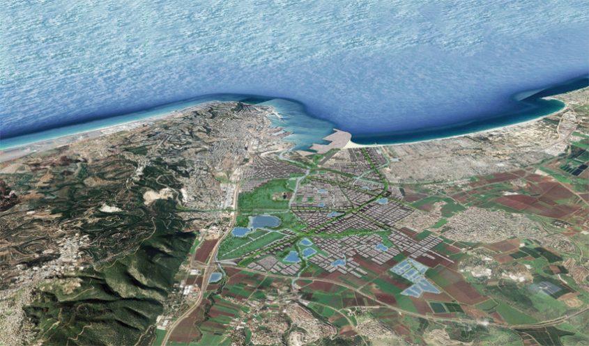 """מתווה """"מפרץ החדשנות"""" (הדמיה: משרד אדריכלים יער-קורין)"""