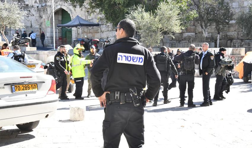 זירת הפיגוע בעיר העתיקה בירושלים (צילום: דוברות משטרת ישראל)