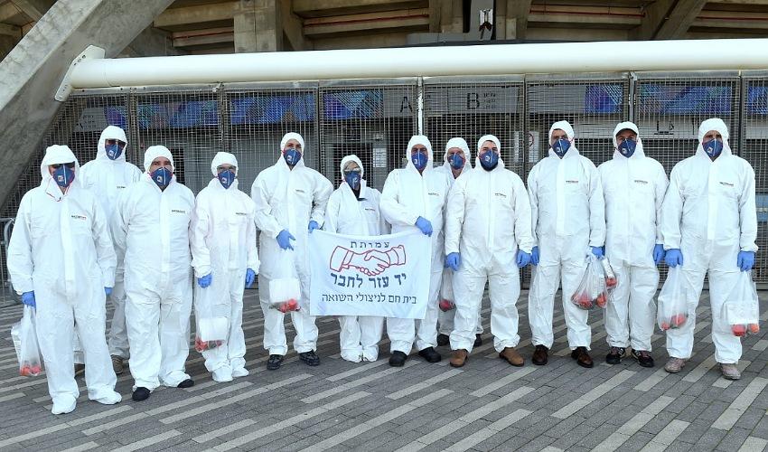 סיירת הקורונה של עמותת יד עזר לחבר (צילום: ג'ו לוצ'יאנו)