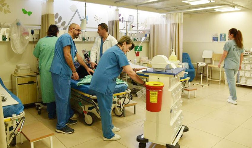 המיון הקהילתי במרכז הרפואי לין (צילום: דוד חורש, דוברות שירותי בריאות כללית)