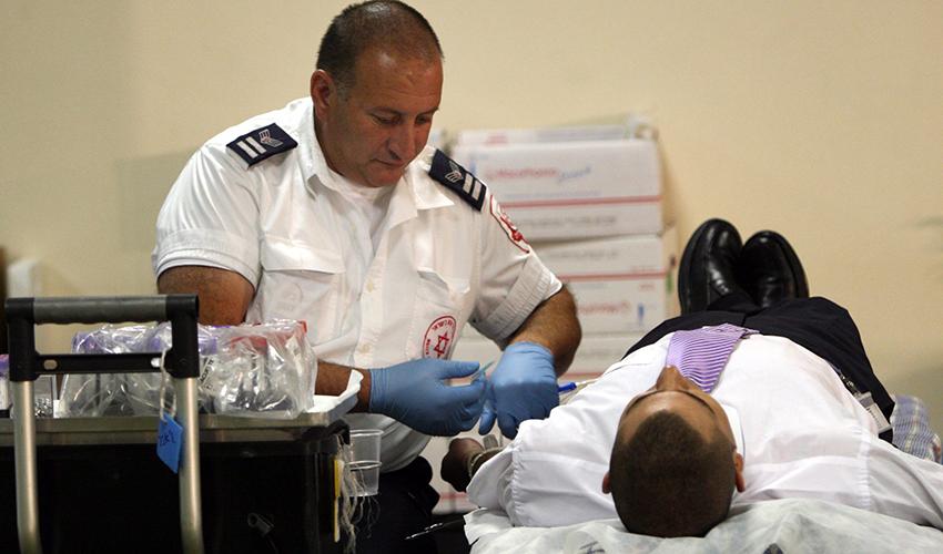 תרומת דם (צילום: טס שפלן)