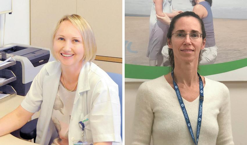 """ד""""ר שירלי דוידוביץ' וד""""ר טטיאנה דורפמן (צילומים: דוברות שירותי בריאות כללית)"""