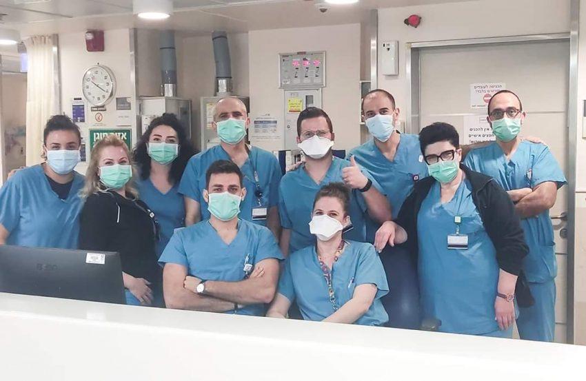 """צוות המלר""""ד בקריה הרפואית רמב""""ם (צילום: מיכל קרפן)"""
