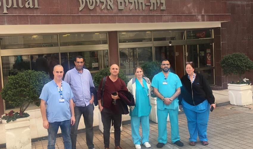 חברי ועד הפעולה בבית החולים אלישע (צילום: אגף הדוברות בהסתדרות)