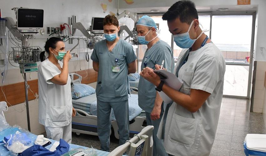 מחלקת קורונה 2 במרכז הרפואי כרמל (צילום: אלי דדון)