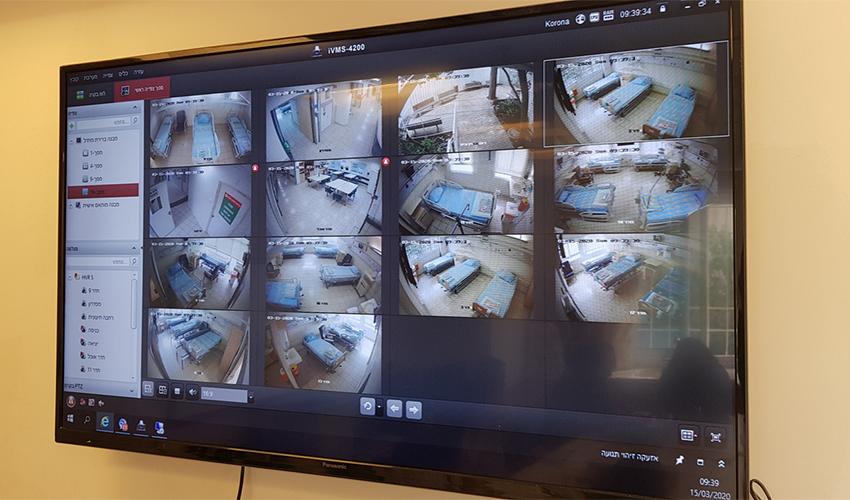 חדר הבקרה לשליטה מרחוק במרכז הרפואי כרמל (צילום: אלי דדון)