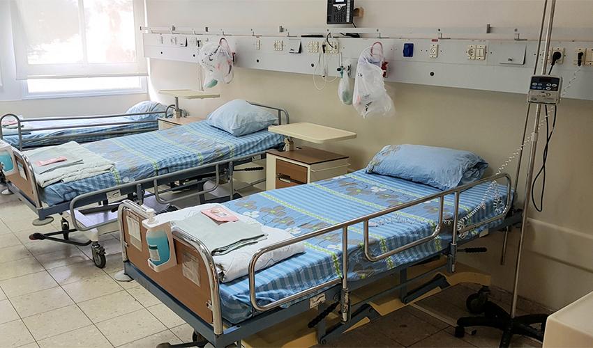 מחלקת הקורונה במרכז הרפואי כרמל (צילום: אלי דדון)