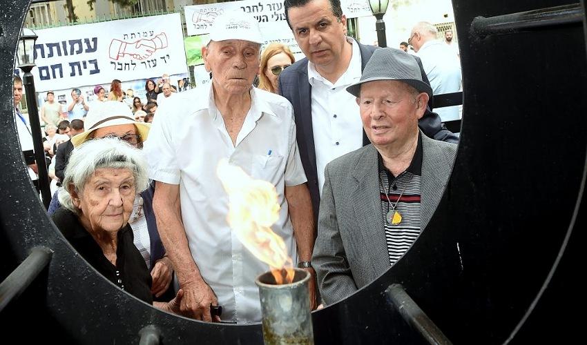 טקס יום השואה של עמותת יד עזר לחבר (צילום: ג'ו הירש)