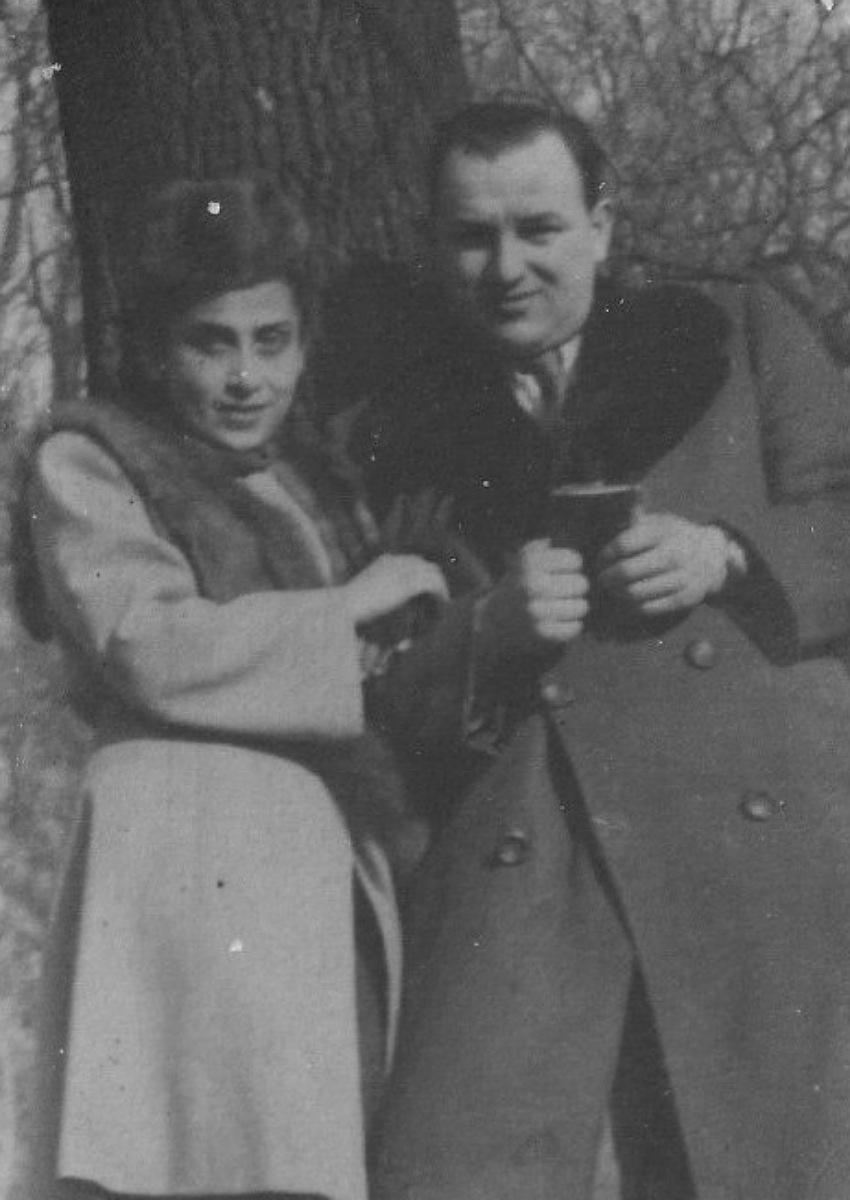 ג'וזף נסטור סניאדנקו ואנטוניה גרובר. בחייהם ובמותם לא נפרדו (צילום: אתר יד ושם)