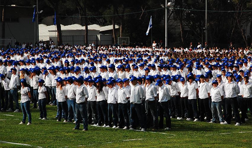 טקס יום הזיכרון בבית הספר הריאלי (צילום: בית הספר הריאלי)