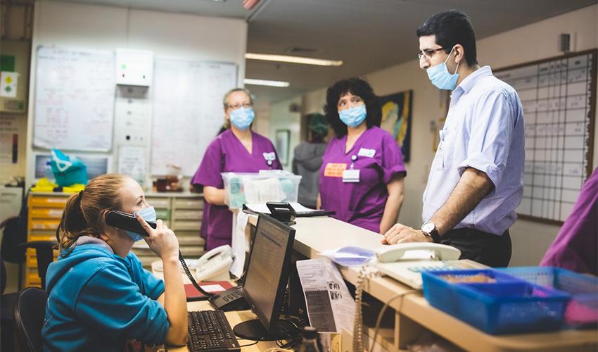 מתחם חדרי הלידה במרכז הרפואי בני ציון (צילום: מיכה בריקמן)