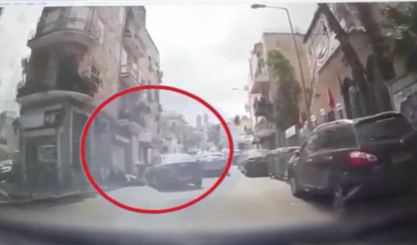 אירוע הדקירה (צילום: דוברות משטרת ישראל)