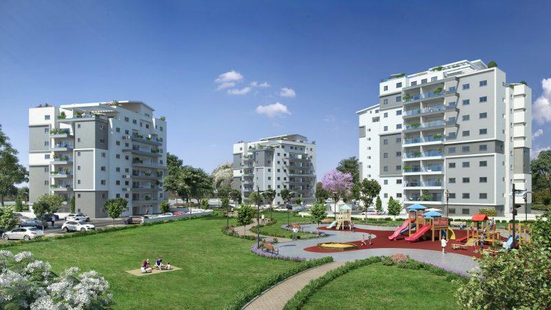 """פרויקט המגורים """"שובלים"""" ביקנעם מעניק לכם הזדמנות ענקית לדירה ענקית. הדמיה: תמיר לזר אדריכלות ואולאין הדמיות"""