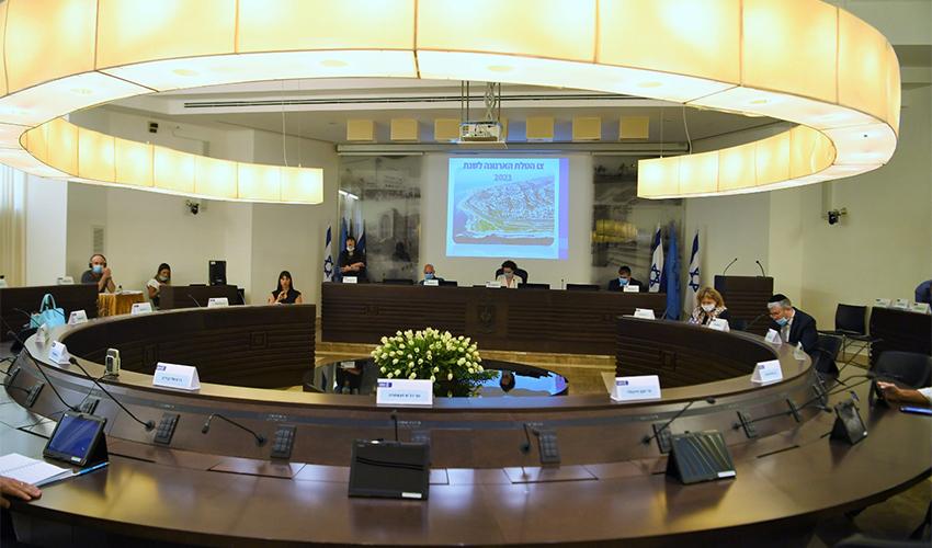 ישיבת מועצת העיר, הערב (צילום: ראובן כהן, דוברות עיריית חיפה)