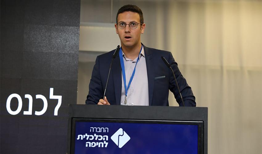 דוד עציוני בכנס (צילום: מיכה בריקמן)