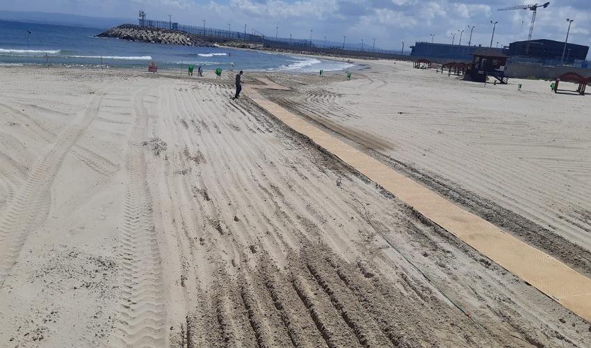 שביל הגישה בחוף השקט (צילום: דוברות עיריית חיפה)