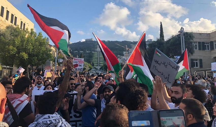 ההפגנה על הריגתו של איאד אל-חאלק (צילום: ארי רמז)