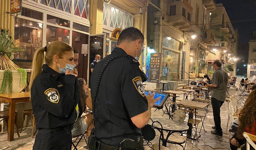 הפעילות המשטרתית לאכיפת הנחיות משרד הבריאות (צילום: דוברות משטרת ישראל)