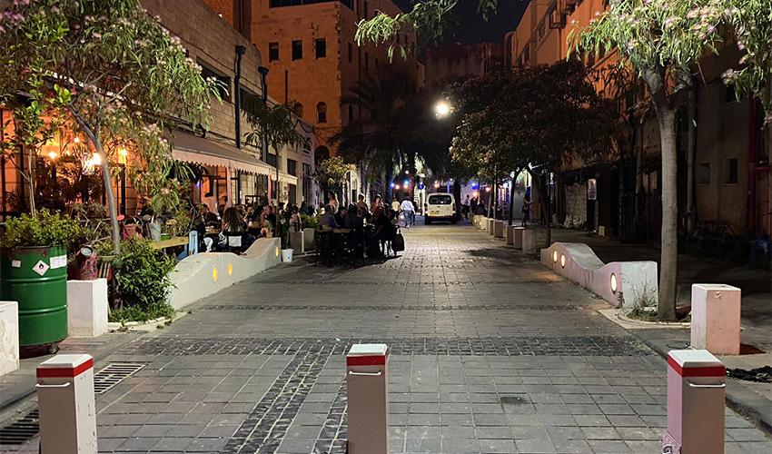 רחוב הנמל (צילום: ראובן כהן, דוברות עיריית חיפה)