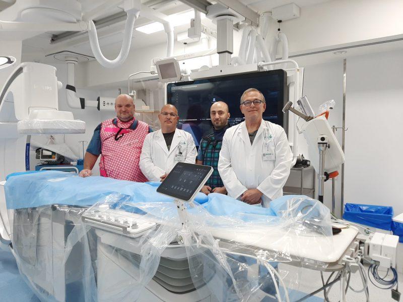 חדש במרכז הרפואי בני ציון - יחידת צנתורים לטיפול במפרצות מורכבות. צילום באדיבות המרכז הרפואי בני ציון