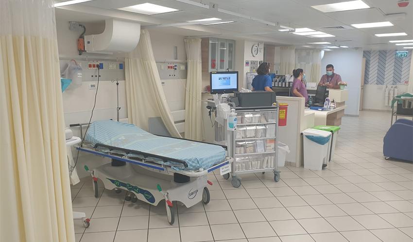 המוקד לרפואה דחופה במתחם המרכז הרפואי כרמל (צילום: צבי מינקוביץ', דוברות שירותי בריאות כללית)