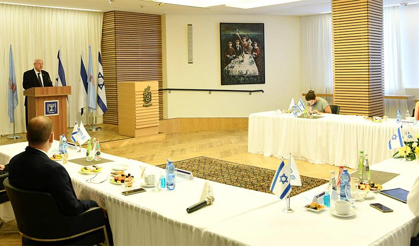 """הנשיא ראובן ריבלין בעיריית חיפה (צילום: עמוס בן גרשום, לע""""מ)"""