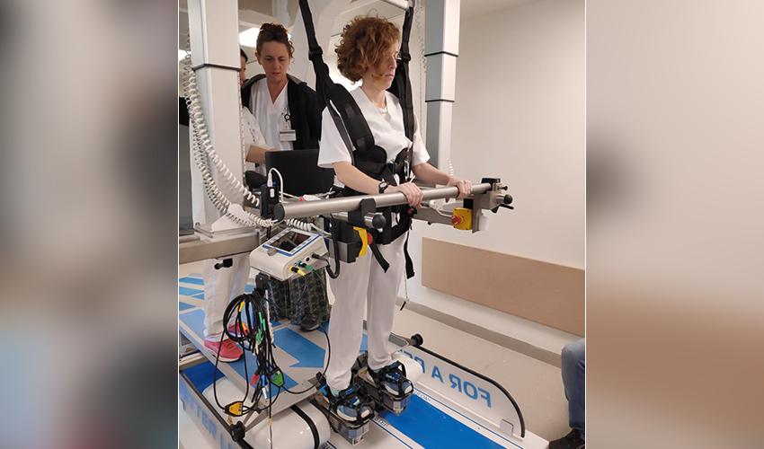 מכשיר ה-G-EO (צילום: המכון לפיזיותרפיה במרכז הרפואי בני ציון)