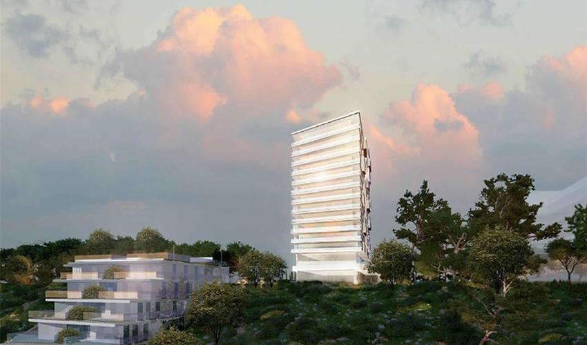 הפרויקט במתחם מחנה מרכוס (הדמיה: משה צור אדריכלים ובוני ערים)