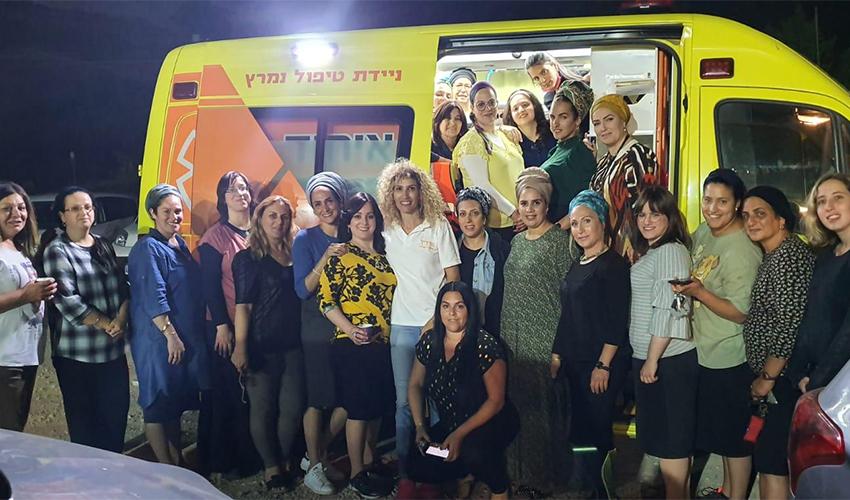 המשתתפות בקורס המתנדבות של איחוד הצלה (צילום: איחוד הצלה, מרחב כרמל)