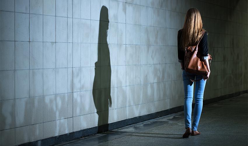 אשה לבד בלילה (צילום: shutterstock.com/Photographee.eu)