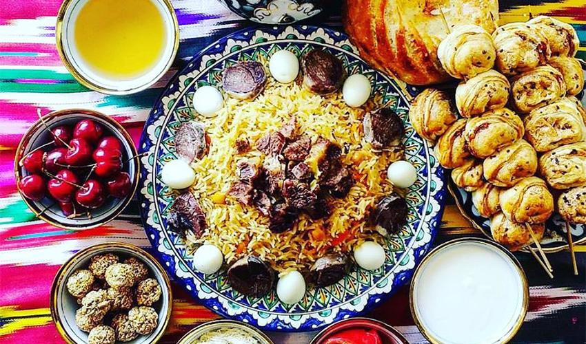ארוחה אוזבקית (צילום מתוך דף הפייסבוק uzbekfood hayfa)