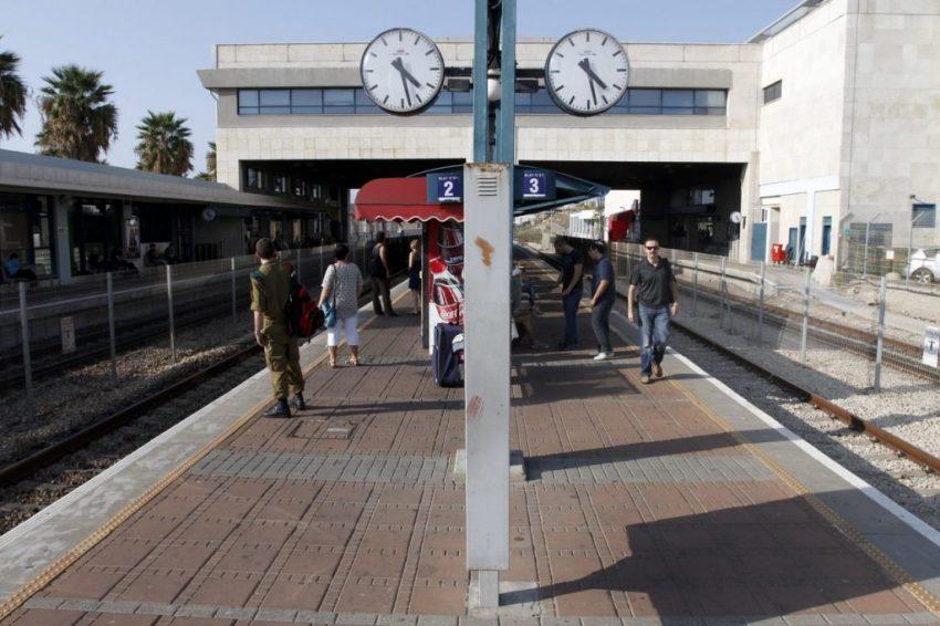 תחנת הרכבת חיפה חוף הכרמל (צילום: חגי פריד)