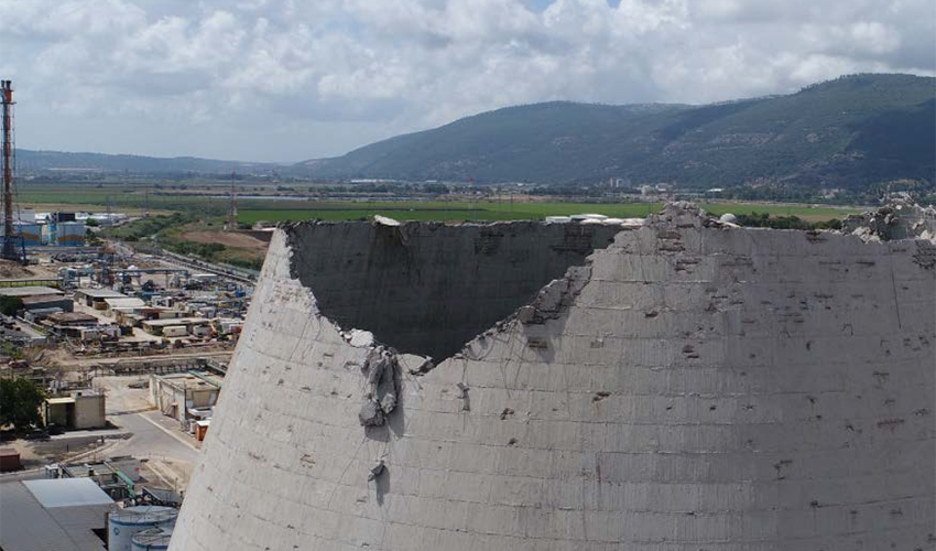 """הלבנייה שקרסה (צילום: דוברות בז""""ן)"""