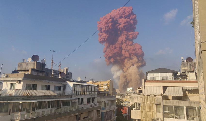 הפיצוץ בביירות ׁ(צילום: Talal Traboulsi, Reuters)