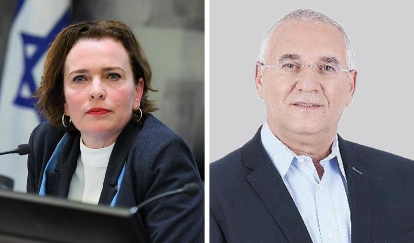 אביהו האן ועינת קליש רותם (צילומים: מירב שדה; ראובן כהן, דוברות עיריית חיפה)